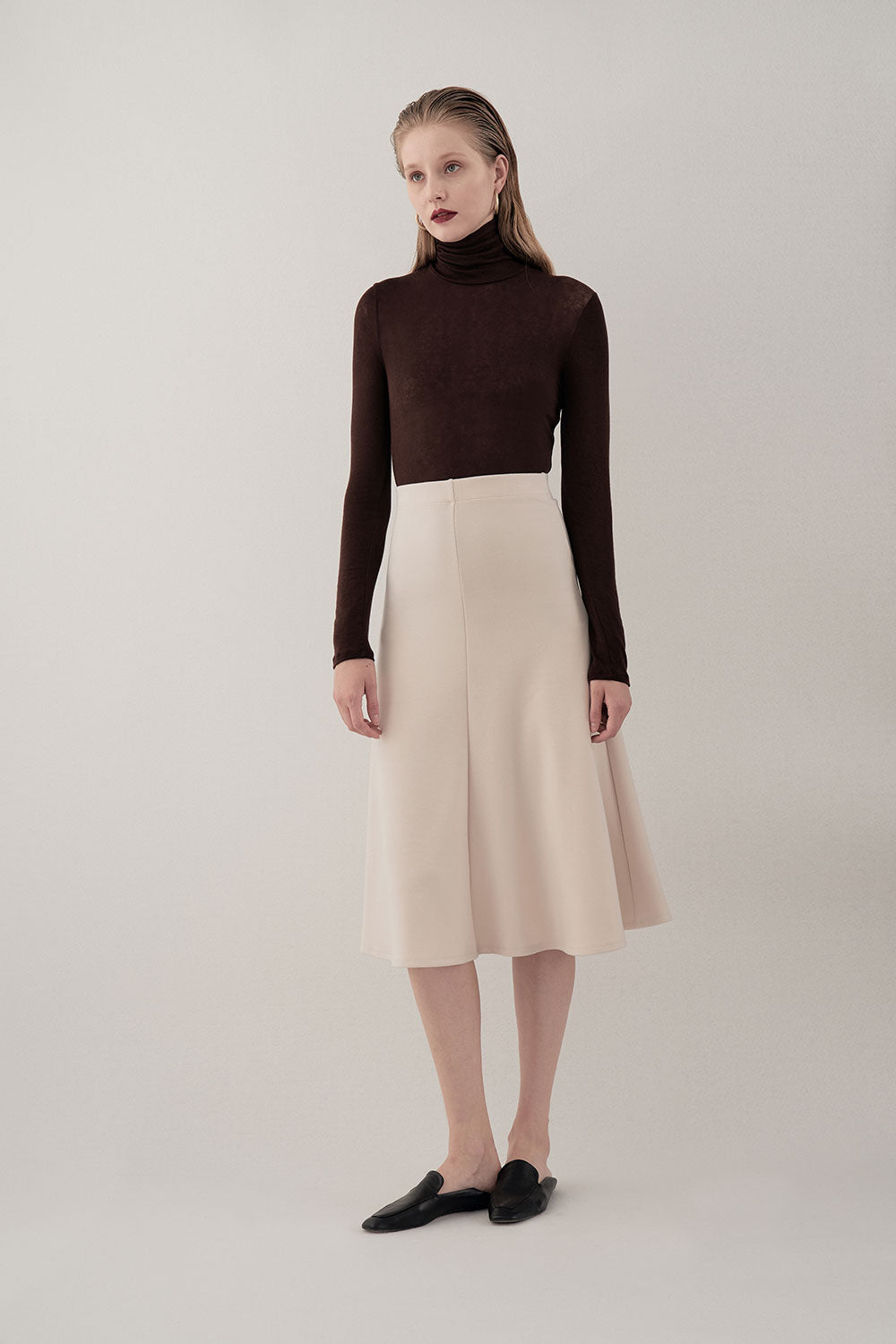 BROWN NOMA LIGHT TURTLENECK