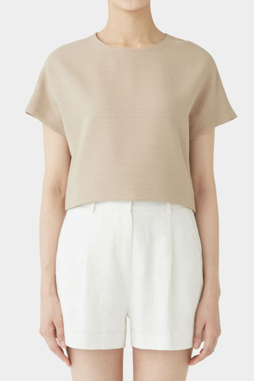 CAMEL STINA SHORTSLEEVE TOP