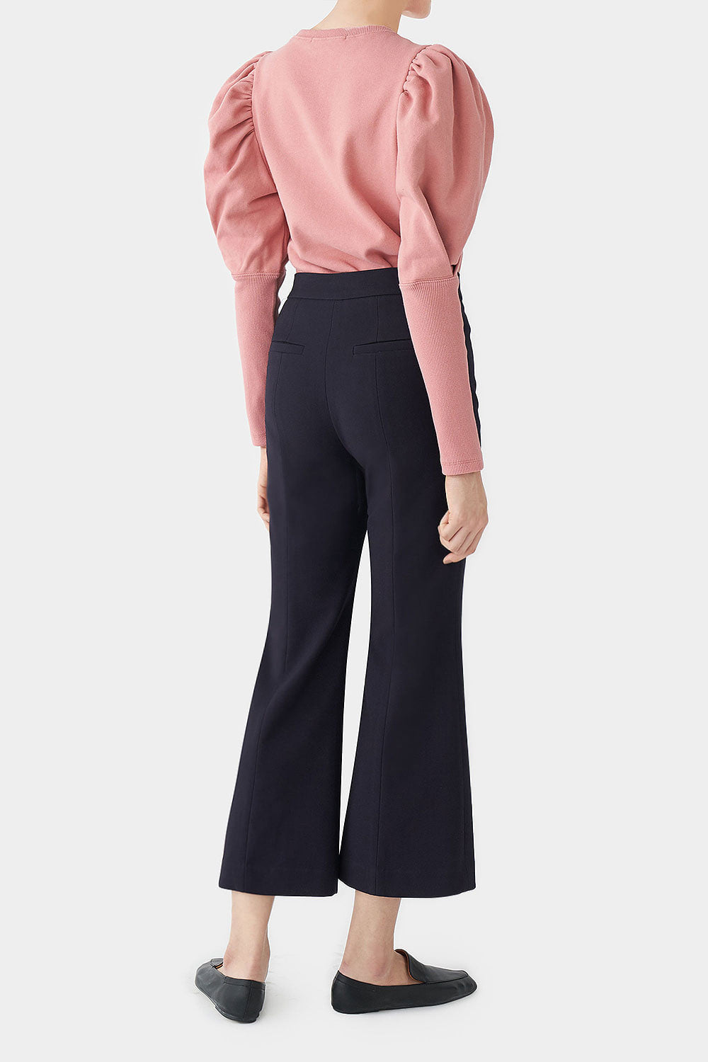 NAVY TALLIE FLARED PANTS