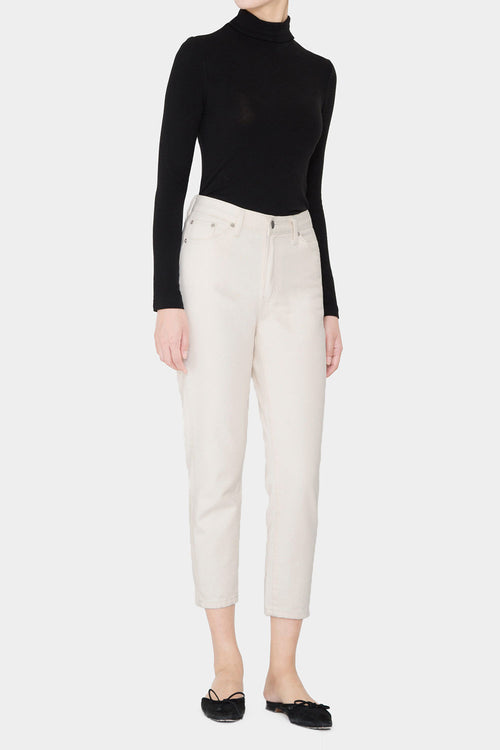 NATURAL FREJA HIGHRISE COTTON DENIM