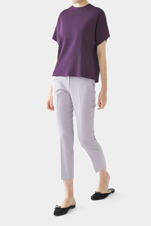 EGGPLANT ANI PERFECT HIGH NECK TOP