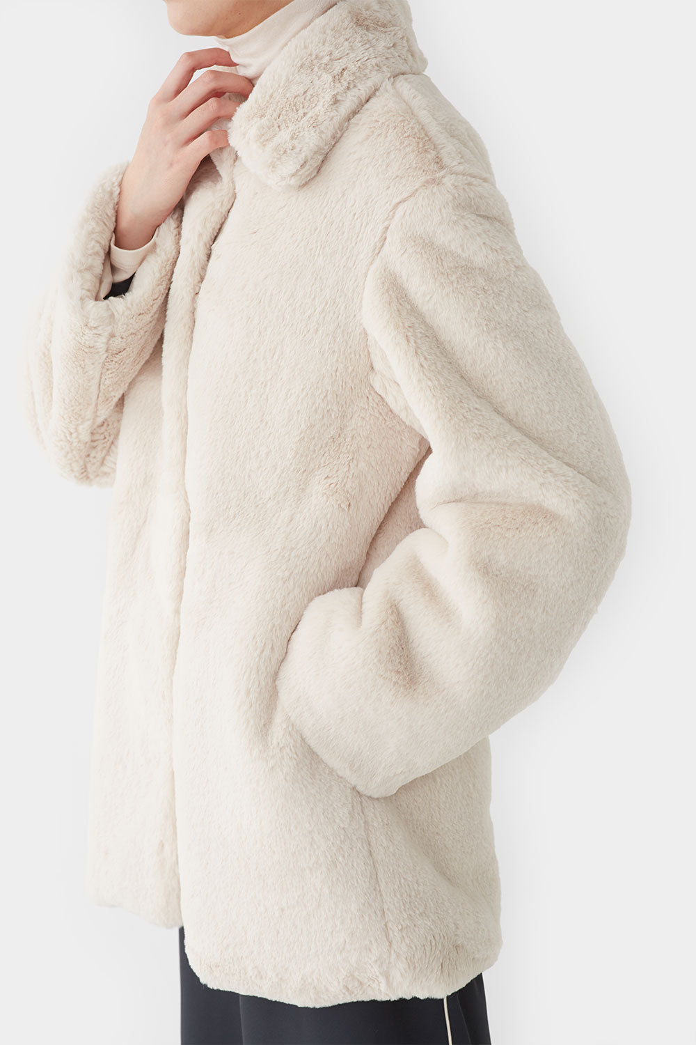 VANILLA PINO LONG FAUX MINK COAT