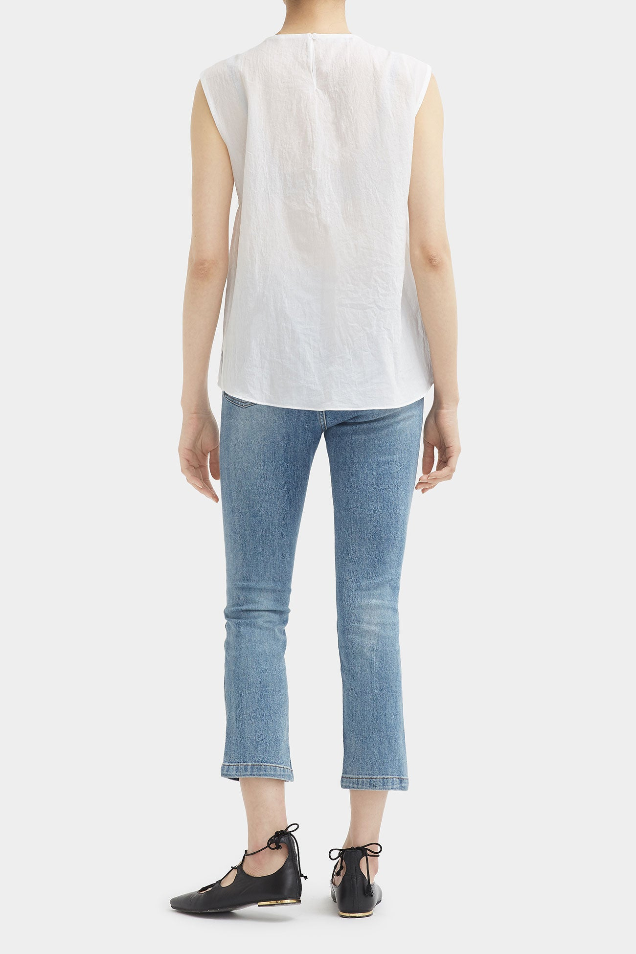 WHITE REISS LIGHT GATHER TOP