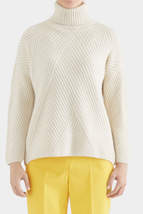 IVORY FRAN HEAVY RIB SWEATER