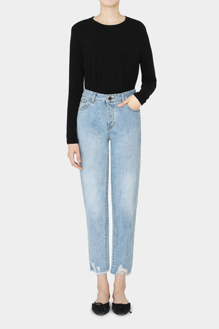 BLACK LOTTIE WIDE DENIM