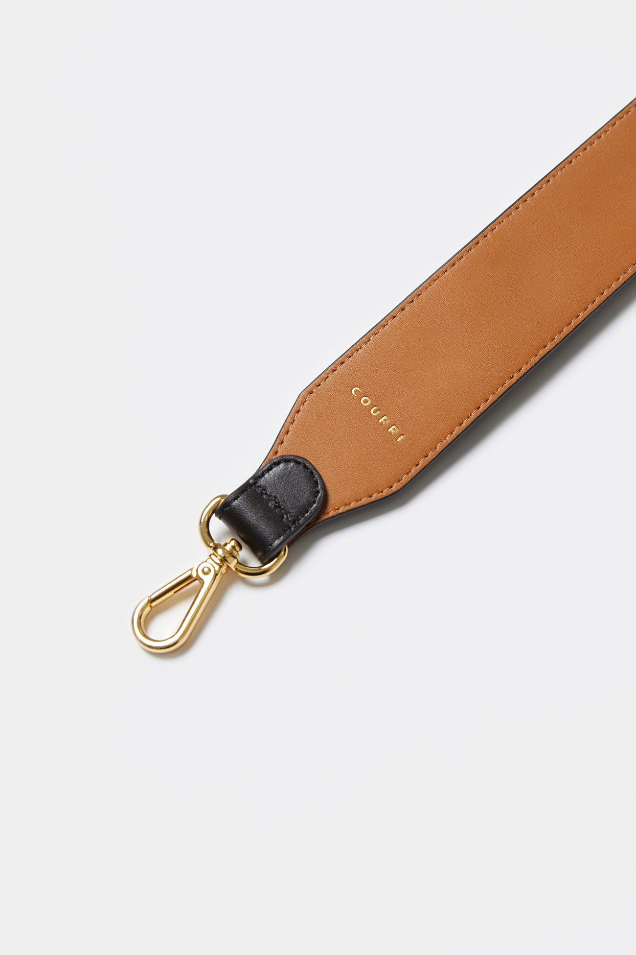 BLACK CODIE EMBELLISHED LEATHER STRAP [Long]