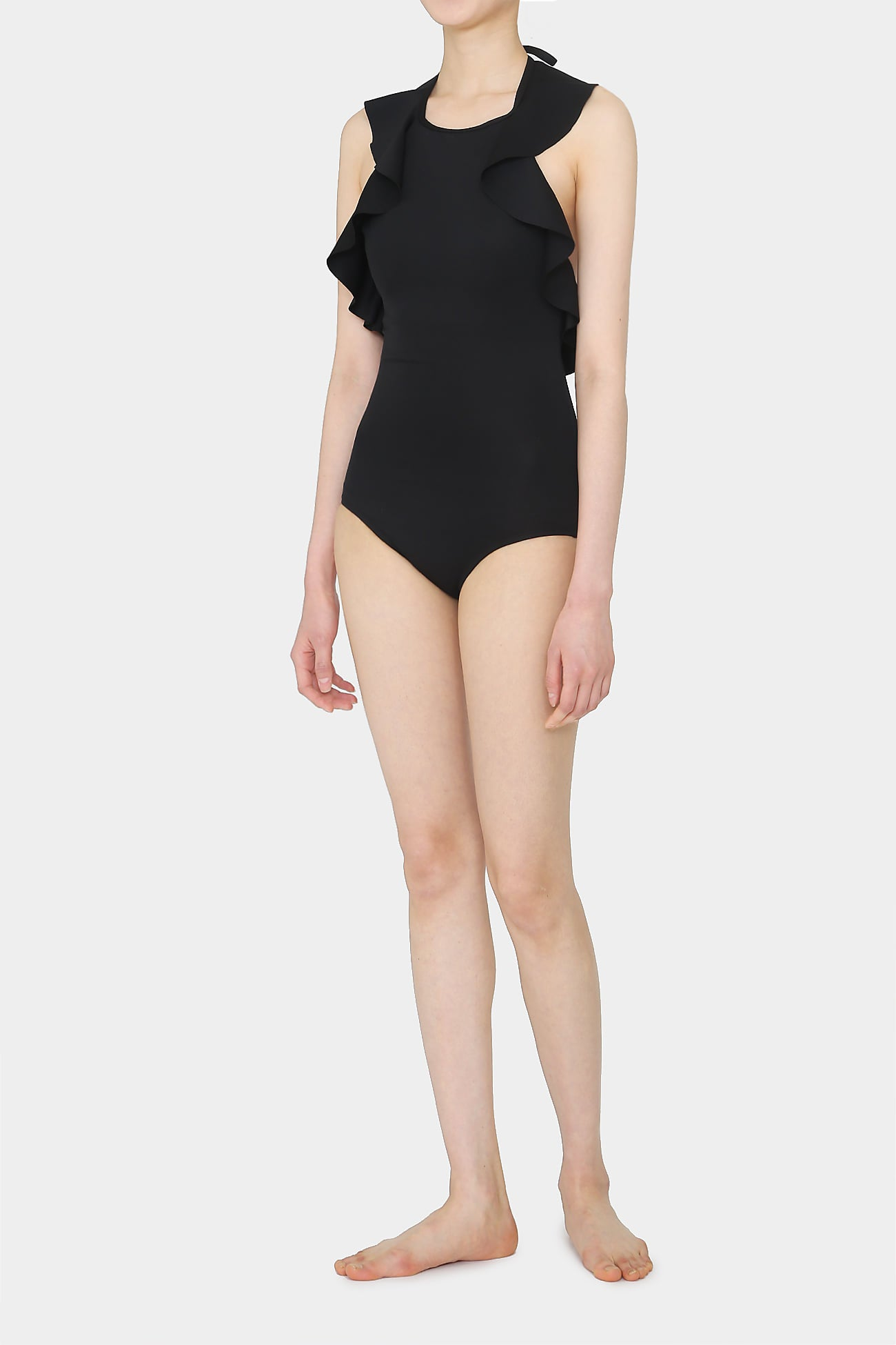 BLACK IDA RUFFLE SWIMSUIT