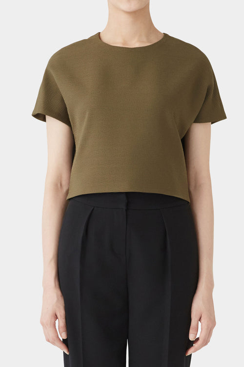 DARK OLIVE STINA SHORTSLEEVE TOP