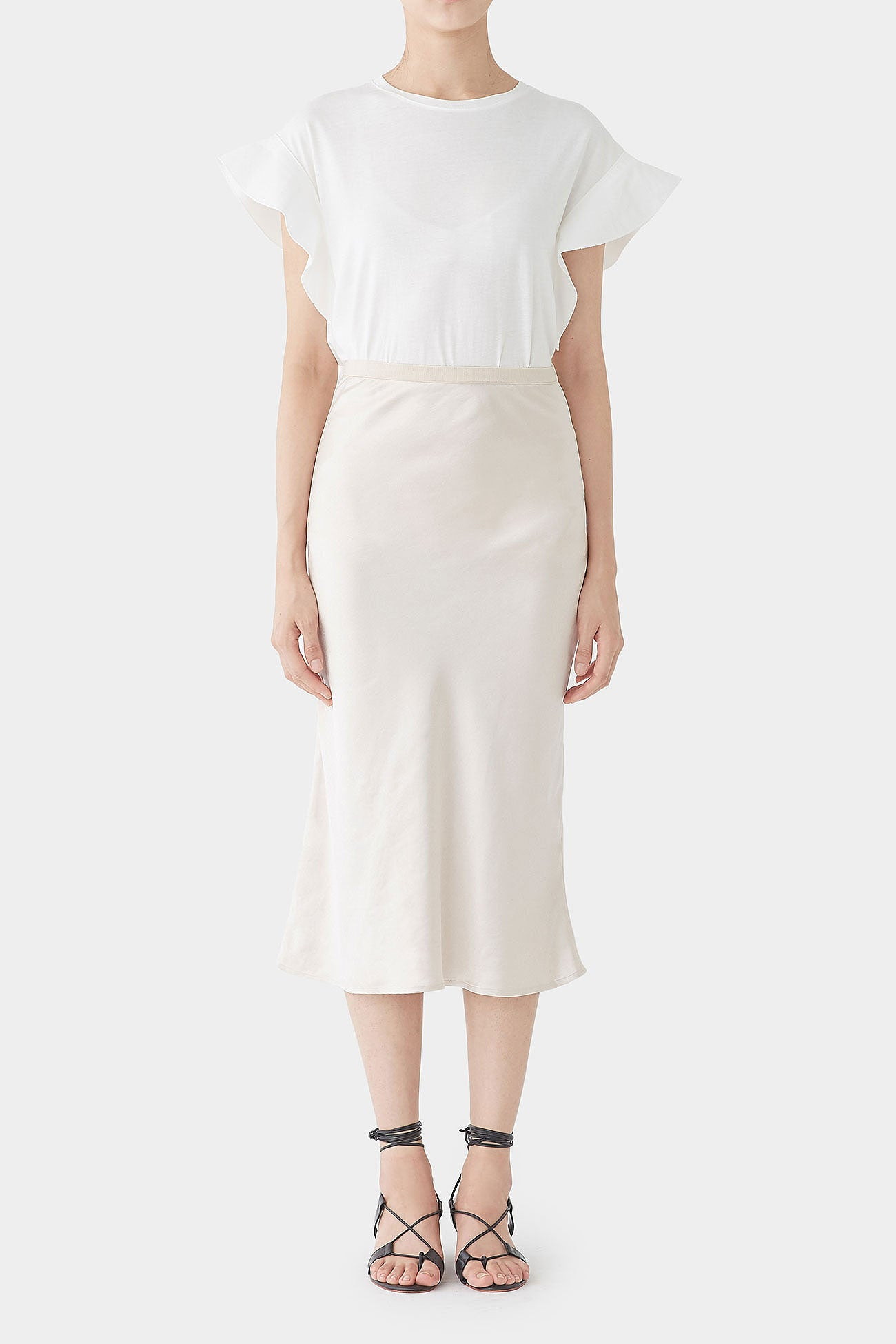 PEARL GEORGINA SATIN BANDING SKIRT