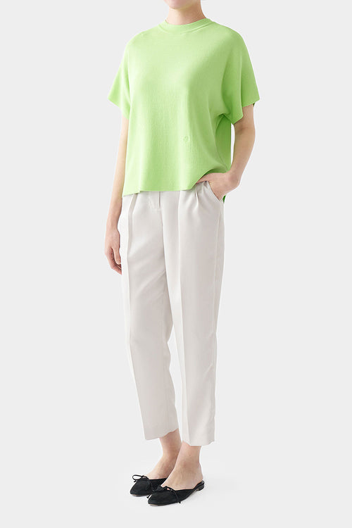 LIME ANI PERFECT HIGH NECK TOP