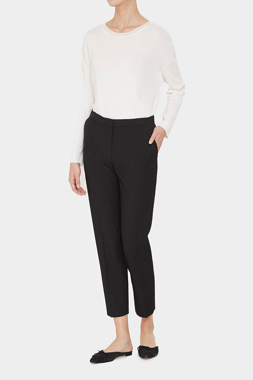 BLACK MORGAN RAYON BLEND PANTS