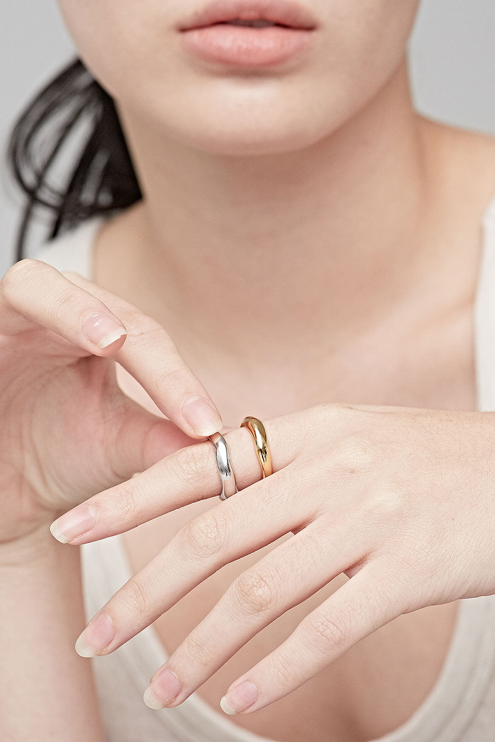 GOLD PAULINE STACK RING