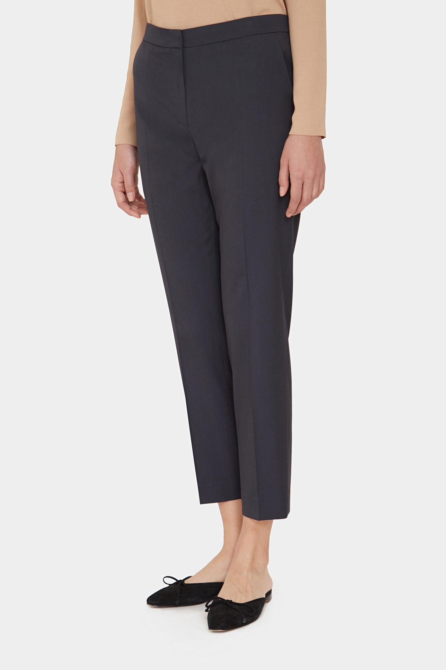DARK GREY MORGAN RAYON BLEND PANTS