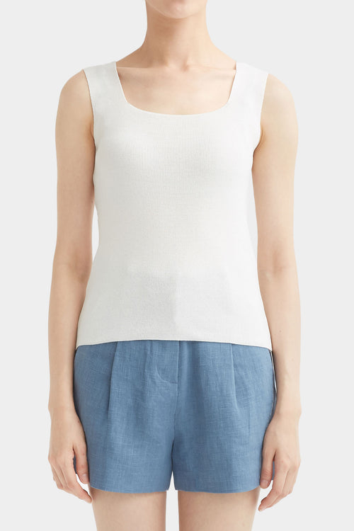 WHITE NOI SLEEVELESS KNIT