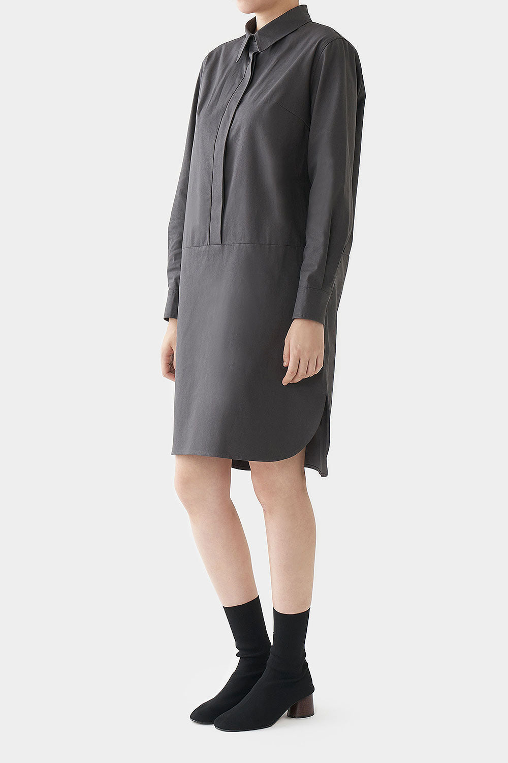 CHARCOAL JADE COTTON DRESS