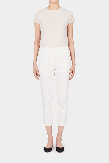 NATURAL ALVA TAILORED LINEN PANTS