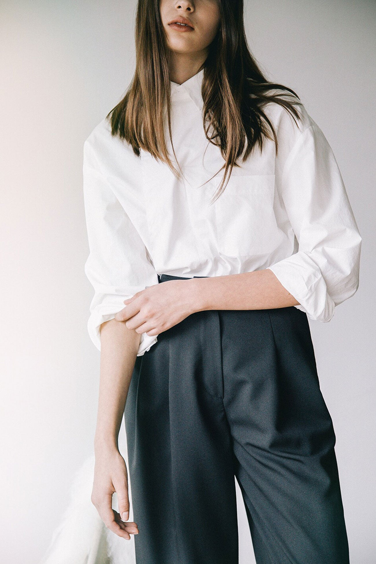 BLACK HUE POCKETED WIDE PANTS