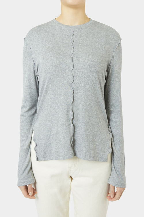 GREY RAYNE END STITCH T-SHIRT