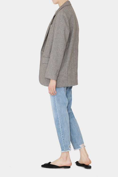 LIGHT TWEED FRANCA BOYFRIEND BLAZER