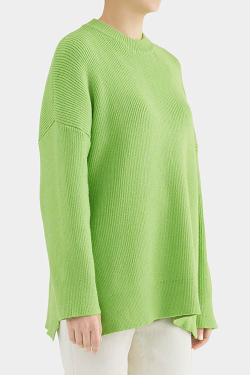 GREEN GRACE SIDE SLIT KNIT