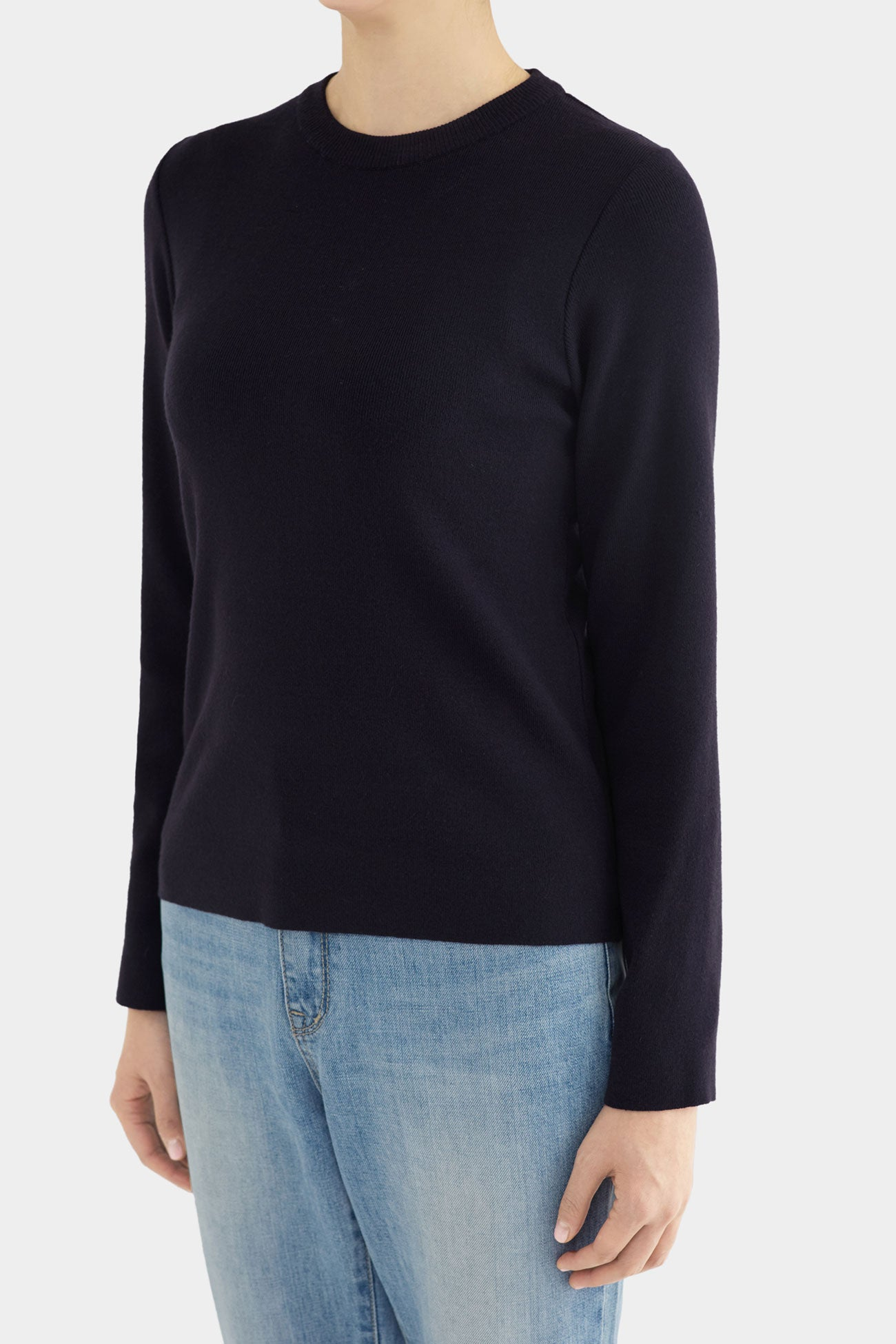 NAVY MAUD SIMPLE CREWNECK