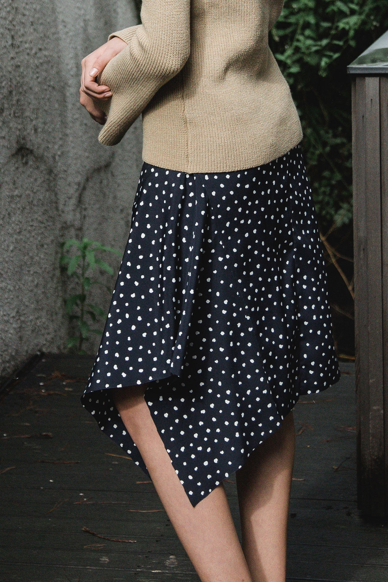 POLKA DOT PIPPA ASYMMETRICAL SKIRT