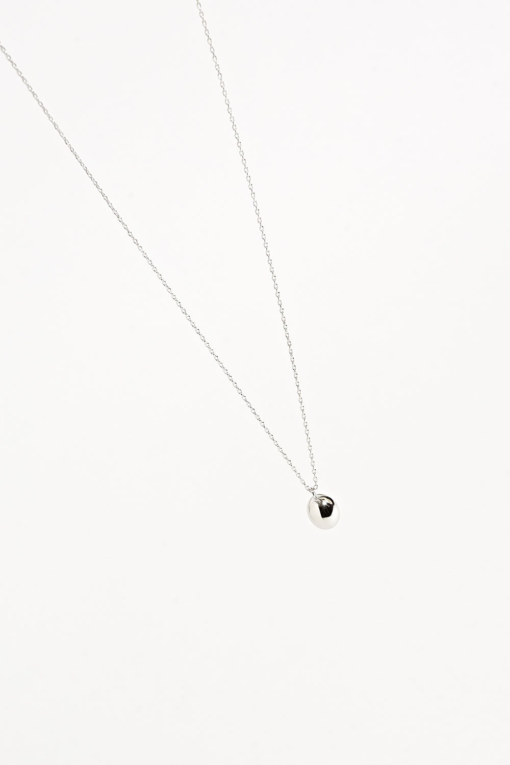 SILVER LOU SINGLE BALL NECKLACE