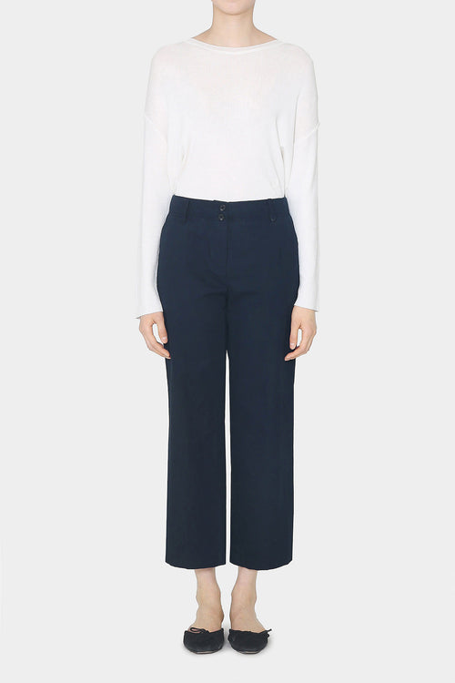 NAVY JOANNA BIO-WASHED PANTS