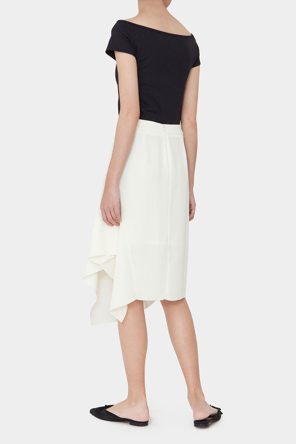 CREAM PIPPA ASYMMETRICAL SKIRT