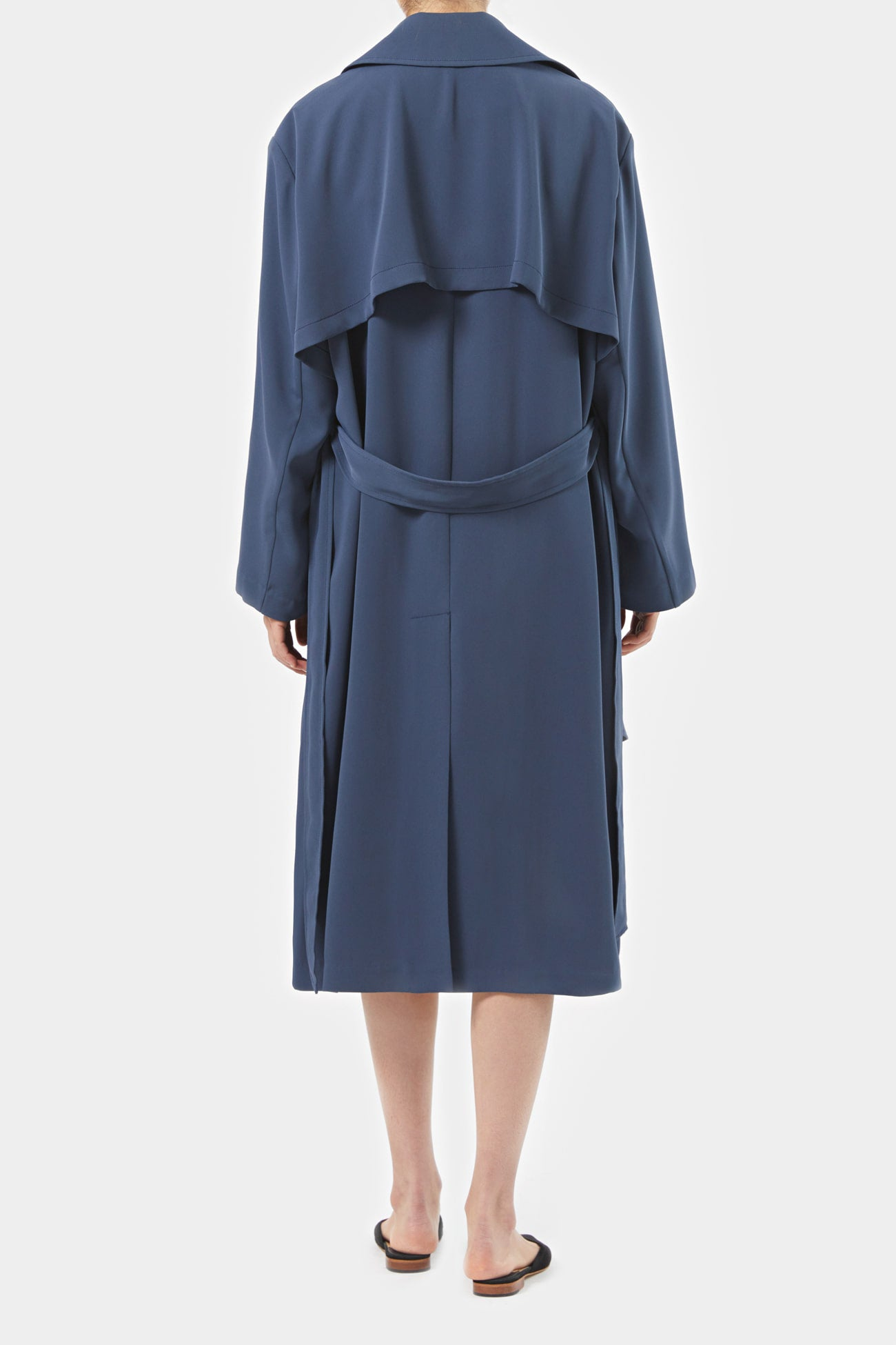 STONE BLUE LEIF ASYMMETRICAL TRENCH
