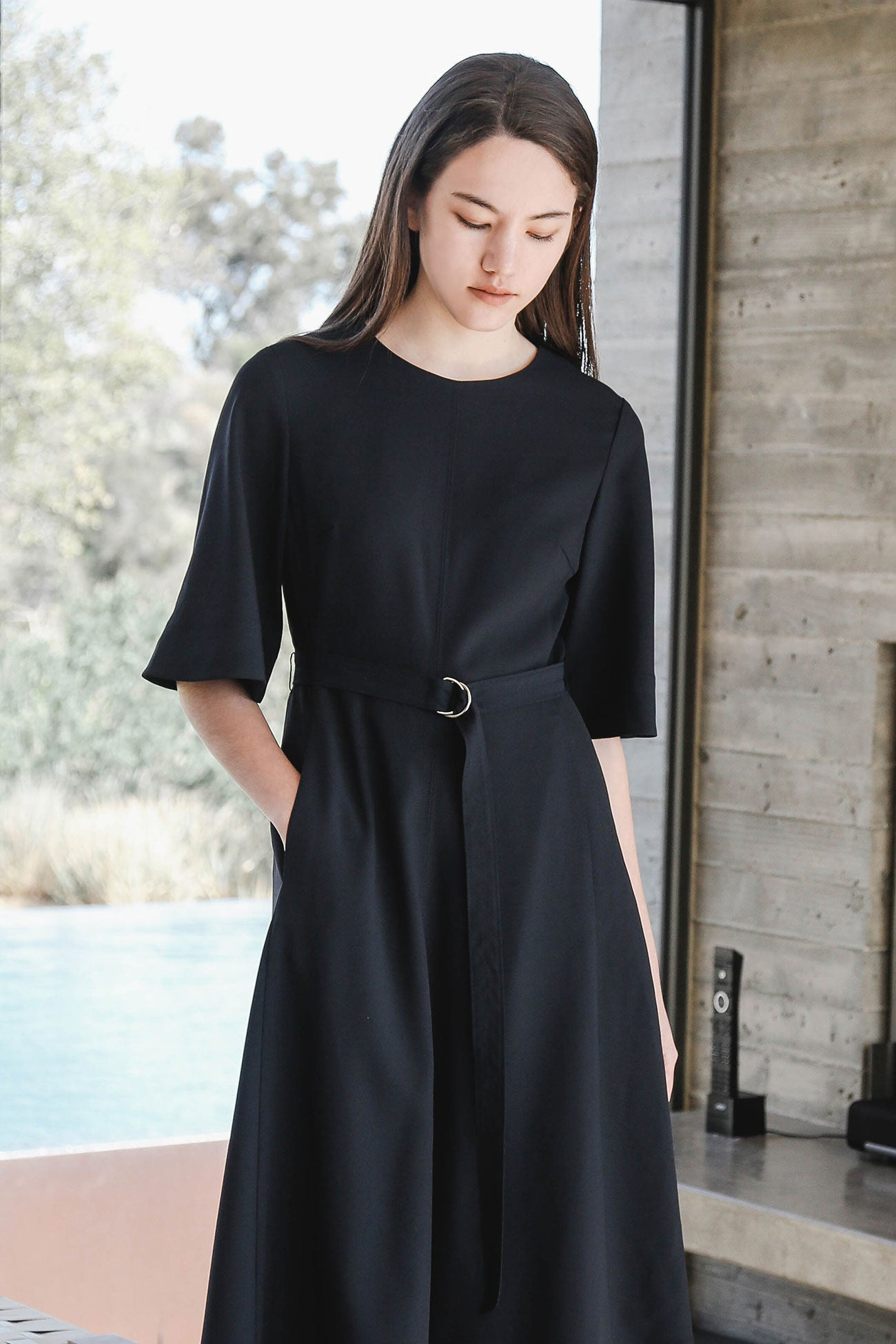 MIDNIGHT ALDA BELT DRESS