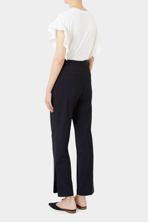 BLACK KRIS SIDE SLIT PANTS