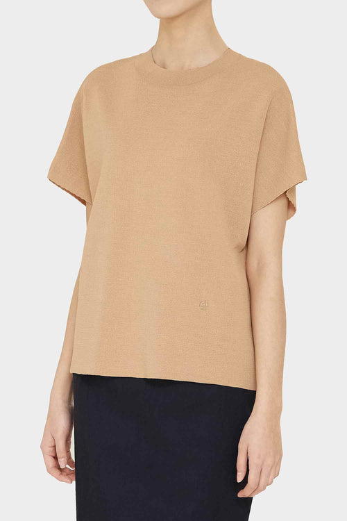 CAMEL ANI PERFECT HIGH NECK TOP
