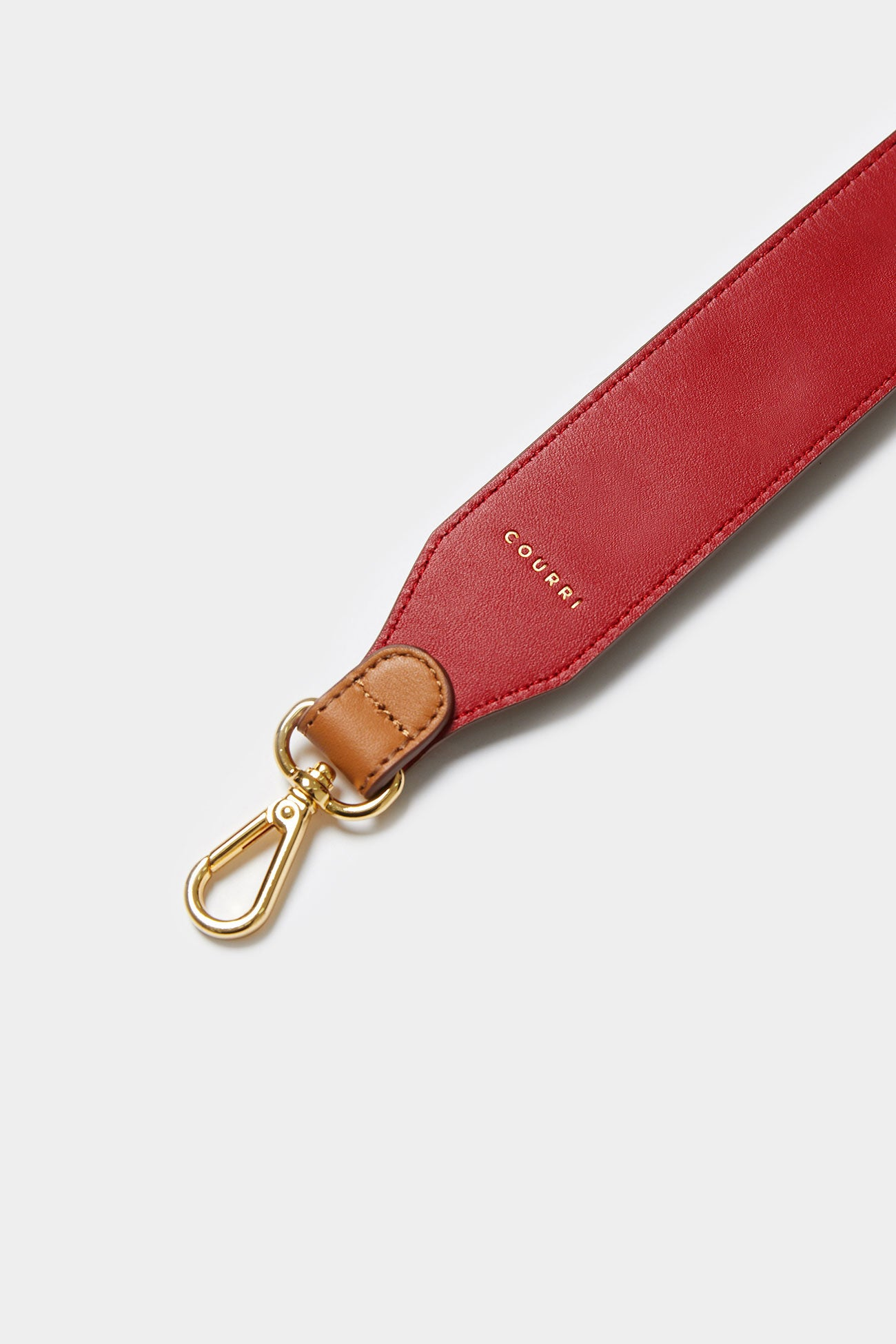 CAMEL CODIE EMBELLISHED LEATHER STRAP [Short]