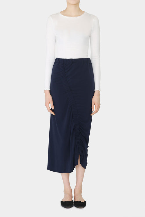 MIDNIGHT TESS DRAPED SKIRT