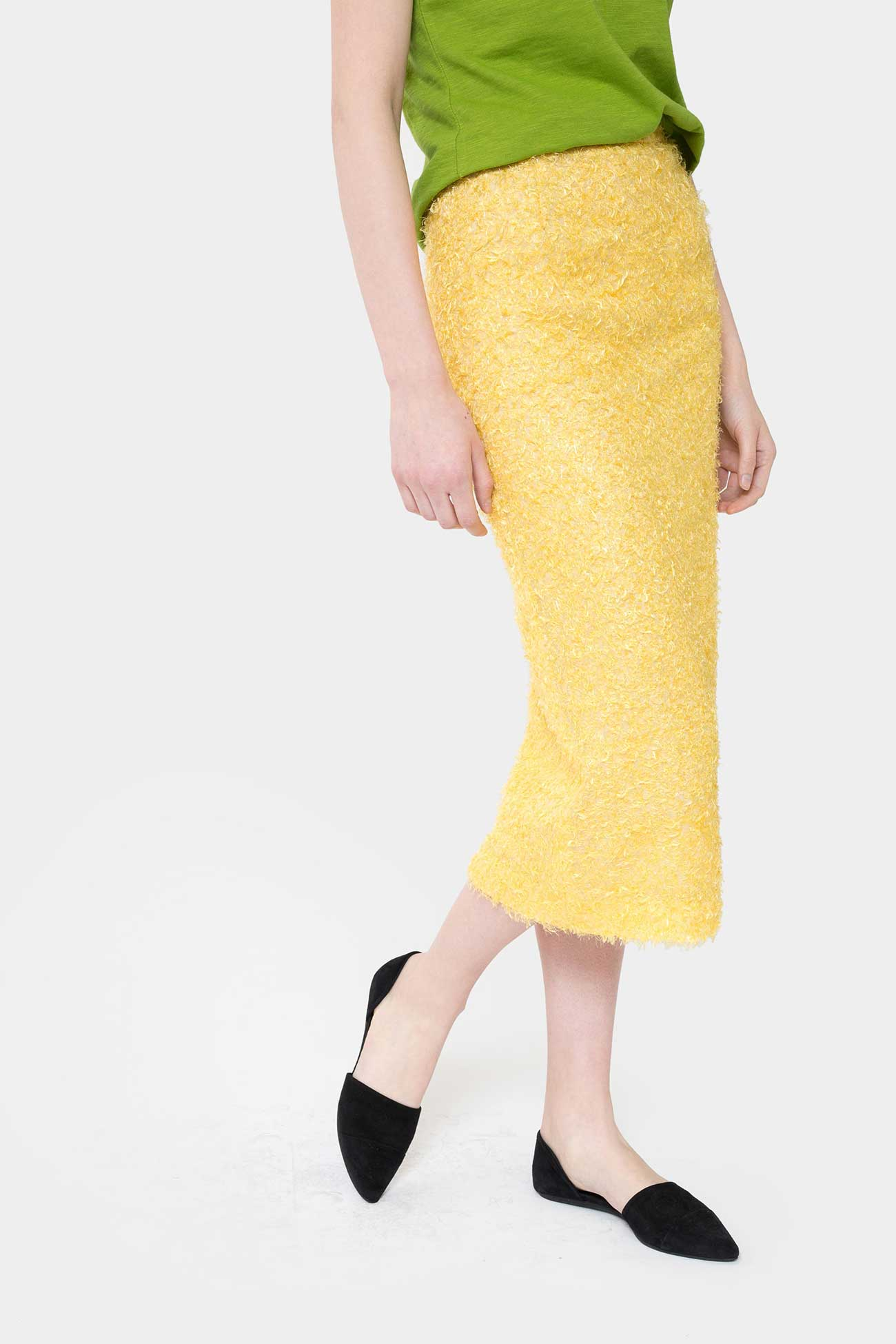 LEMON NORA LONG SILK SKIRT