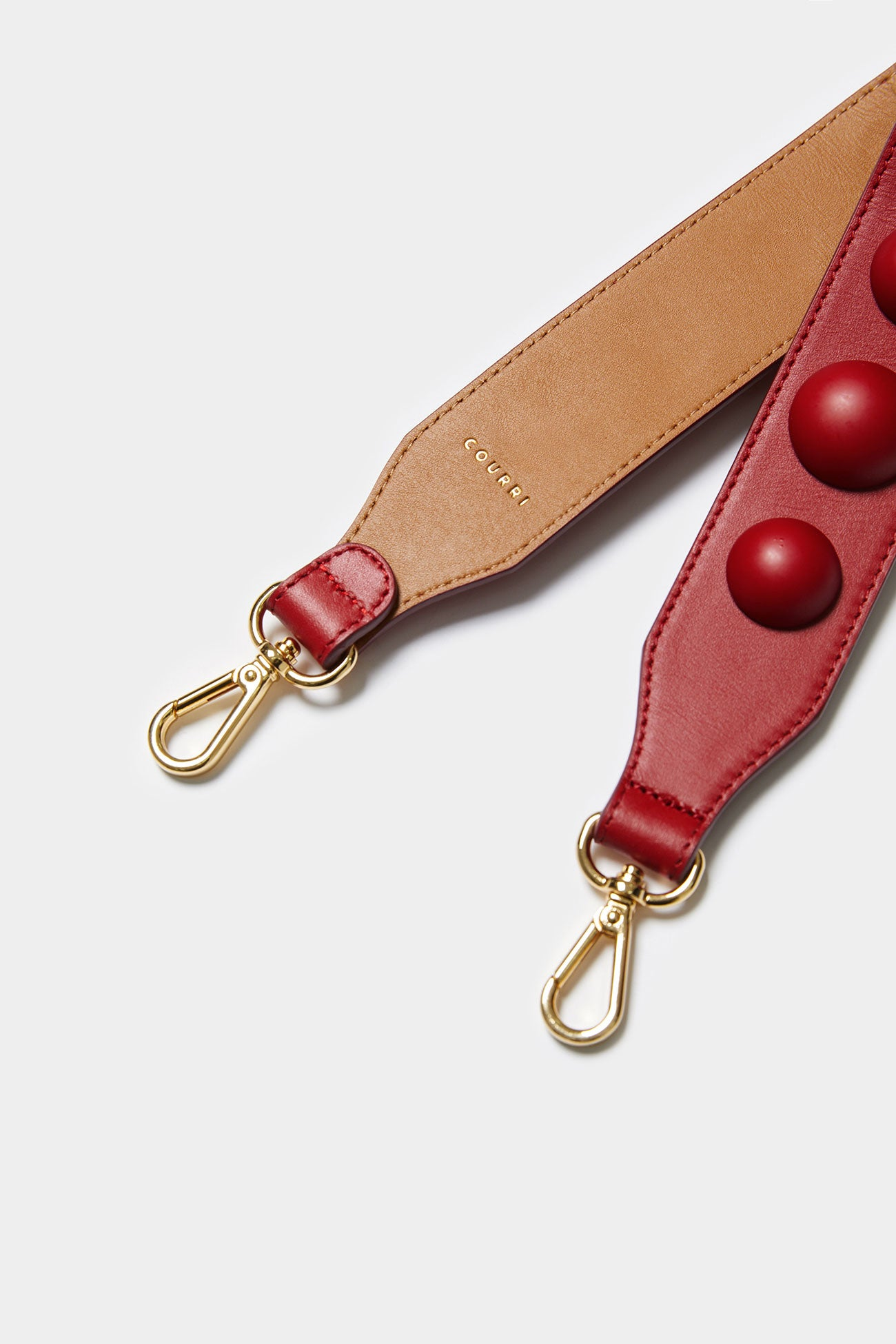 RED CODIE EMBELLISHED LEATHER STRAP [Short]