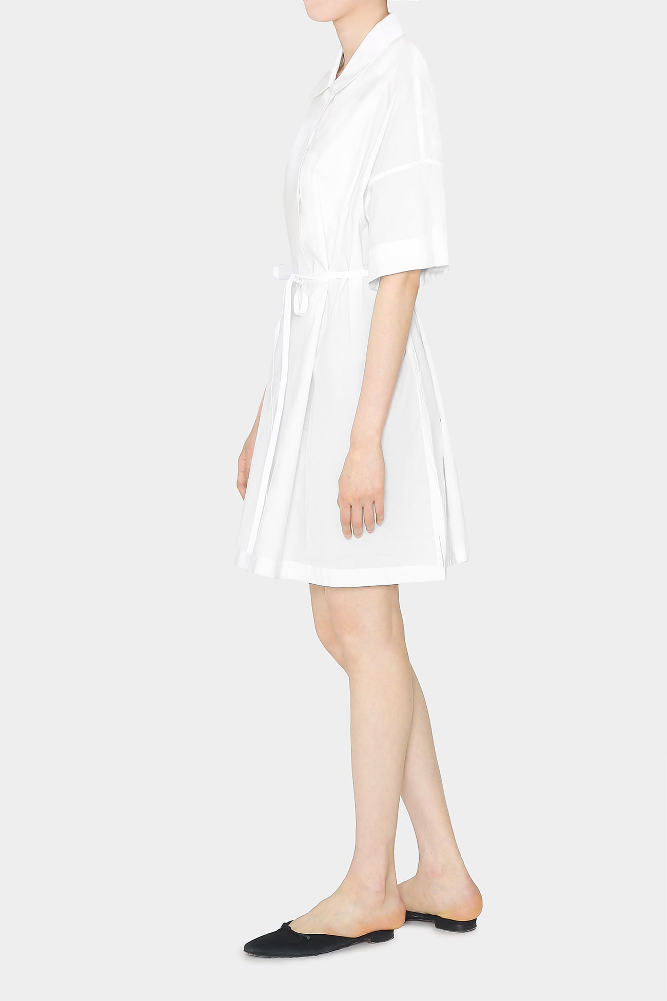 WHITE LAUREN SIMPLE COTTON DRESS