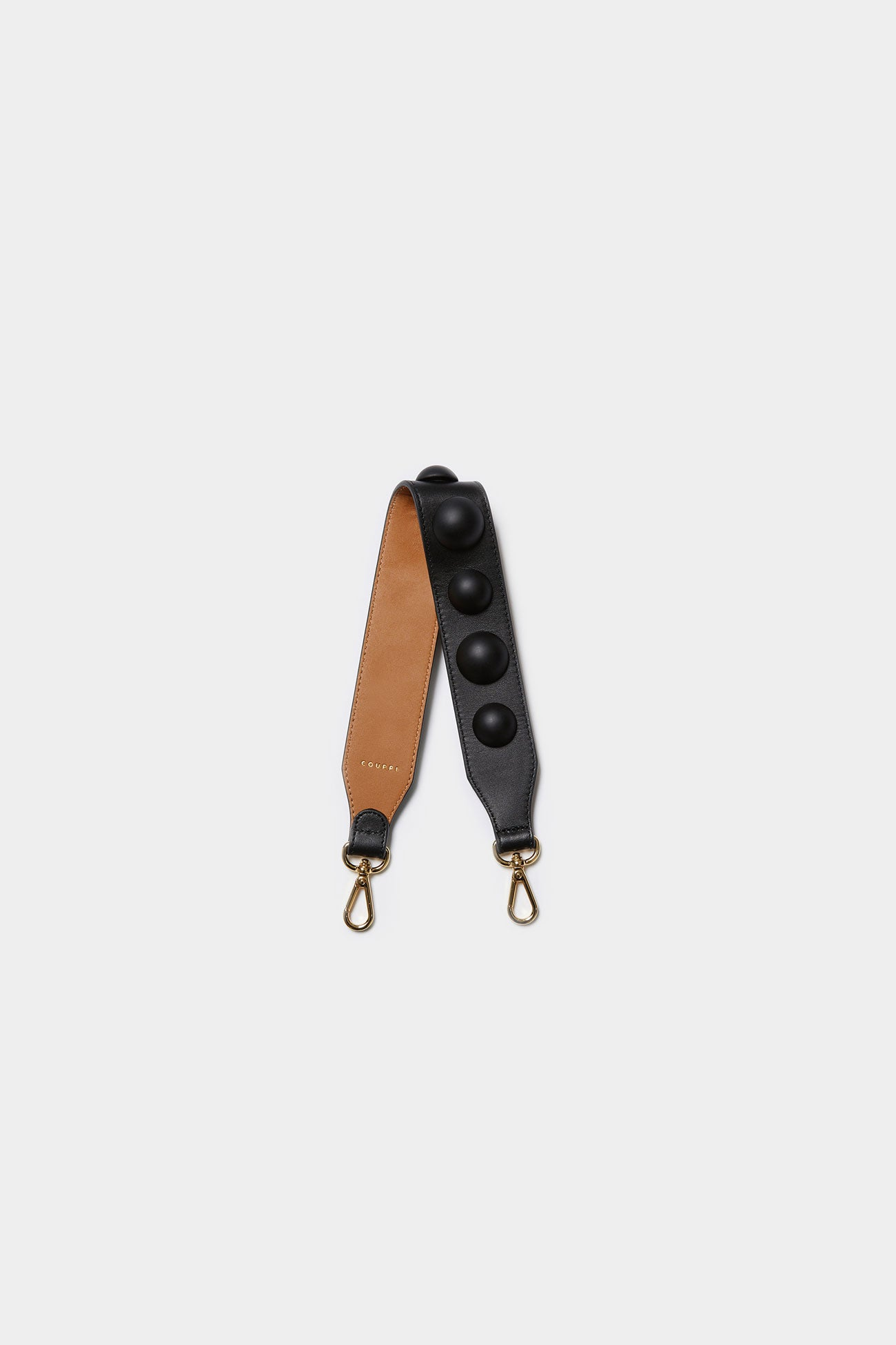 BLACK CODIE EMBELLISHED LEATHER STRAP [Short]