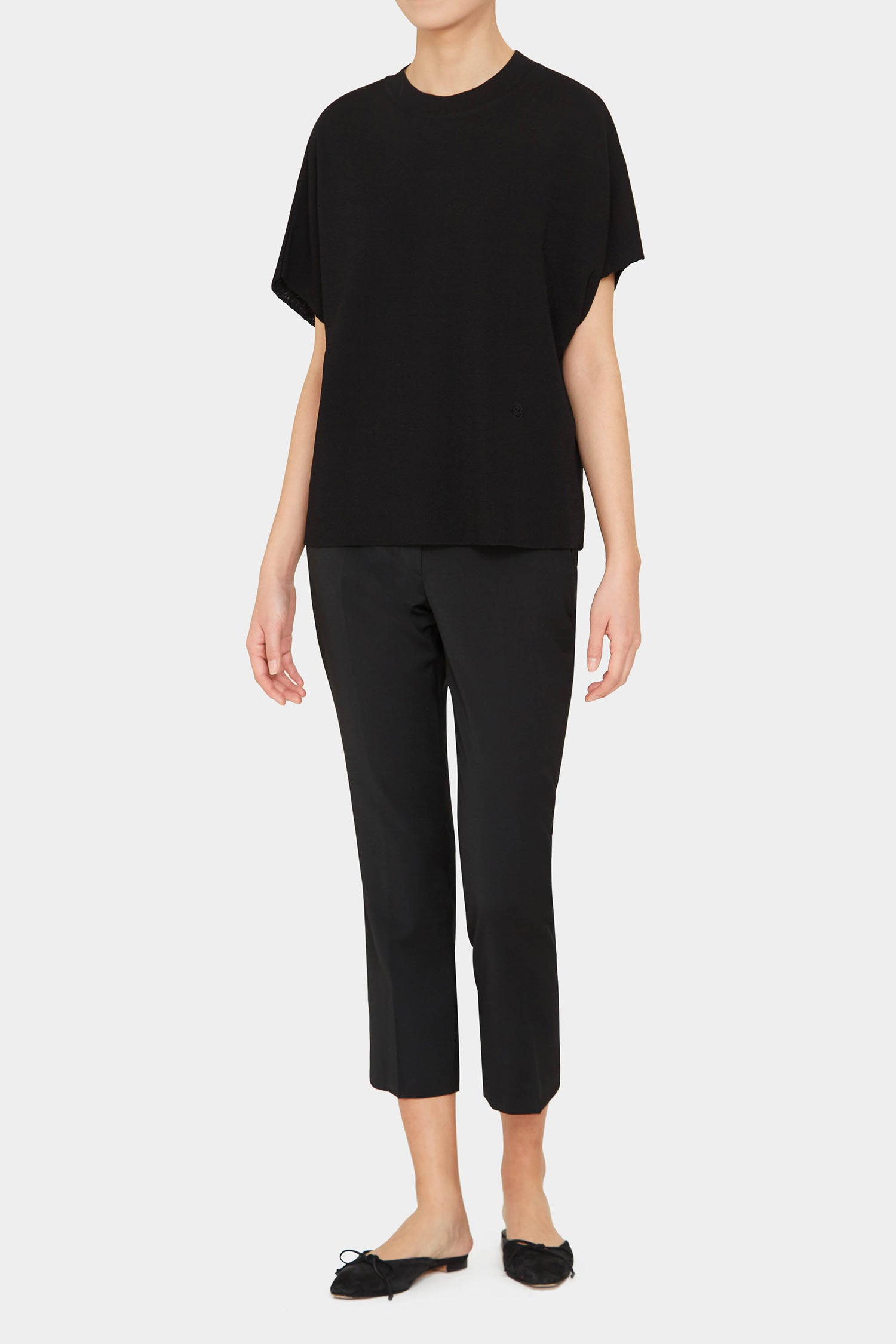 BLACK ANI PERFECT HIGH NECK TOP