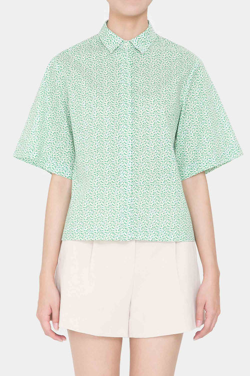 [COURRI x LIBERTY] GREEN LIV SHORTSLEEVE SHIRTS