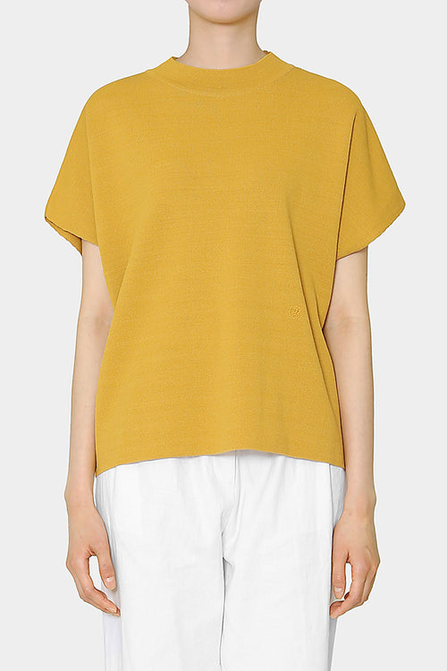 MUSTARD ANI PERFECT HIGH NECK TOP