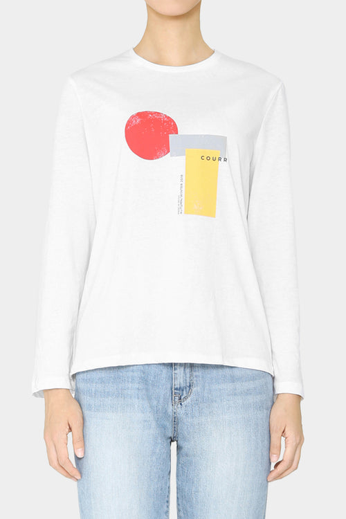 VERSION 2 - WHITE PRINTED LIO BELLSLEEVE T-SHIRT