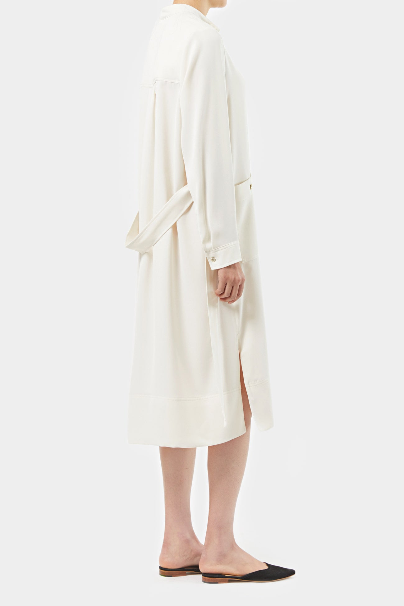 CREAM RACH EASY SHIRT DRESS