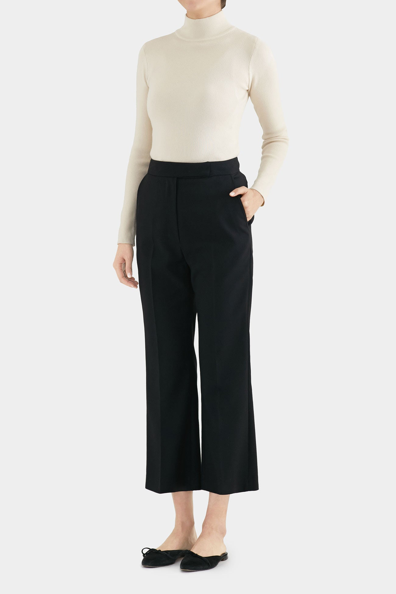 BLACK BONIE TIDY FLARE PANTS
