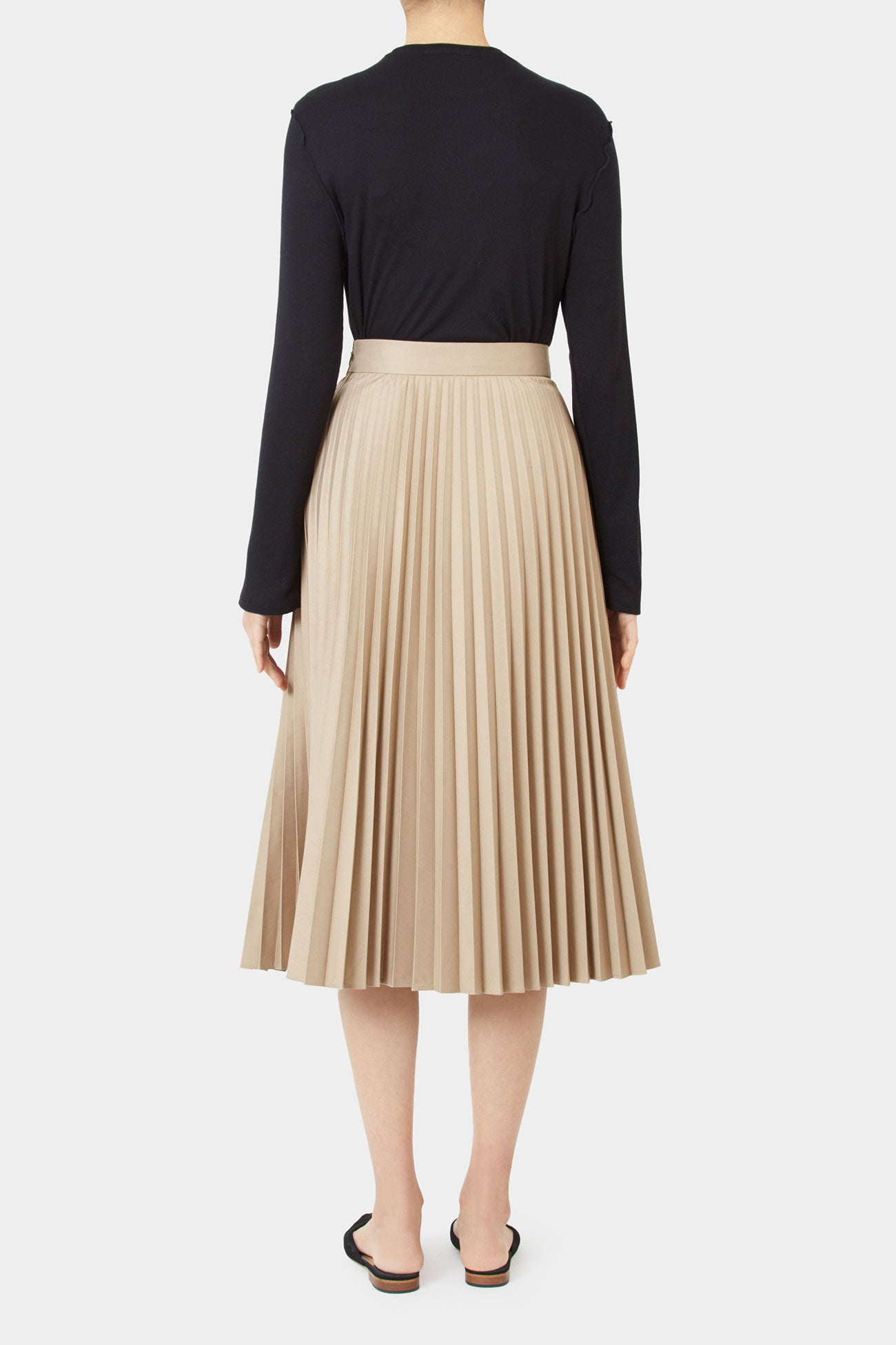 CAMEL LILY PLEATED SKIRT