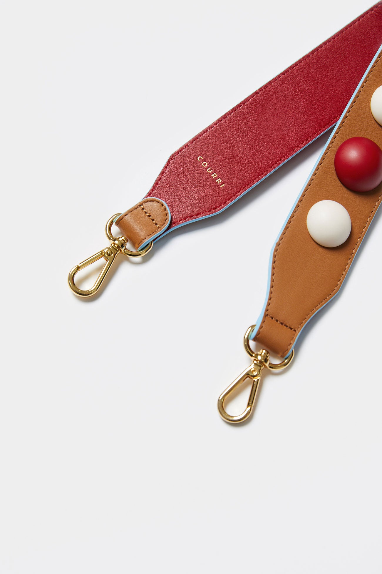 RED MULTI CODIE EMBELLISHED LEATHER STRAP [Short]