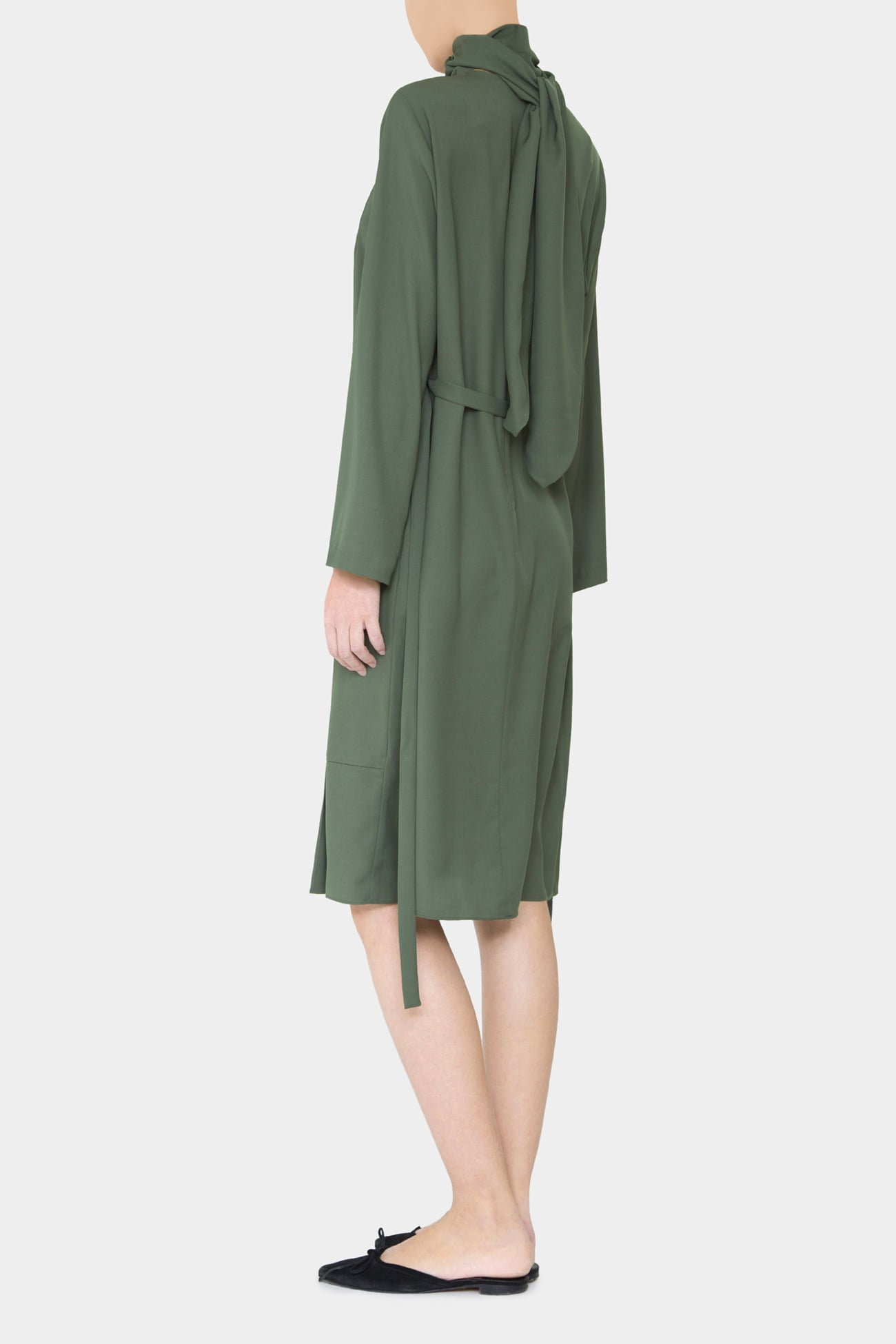 MOSS ELO DAY DRESS WITH SCARF