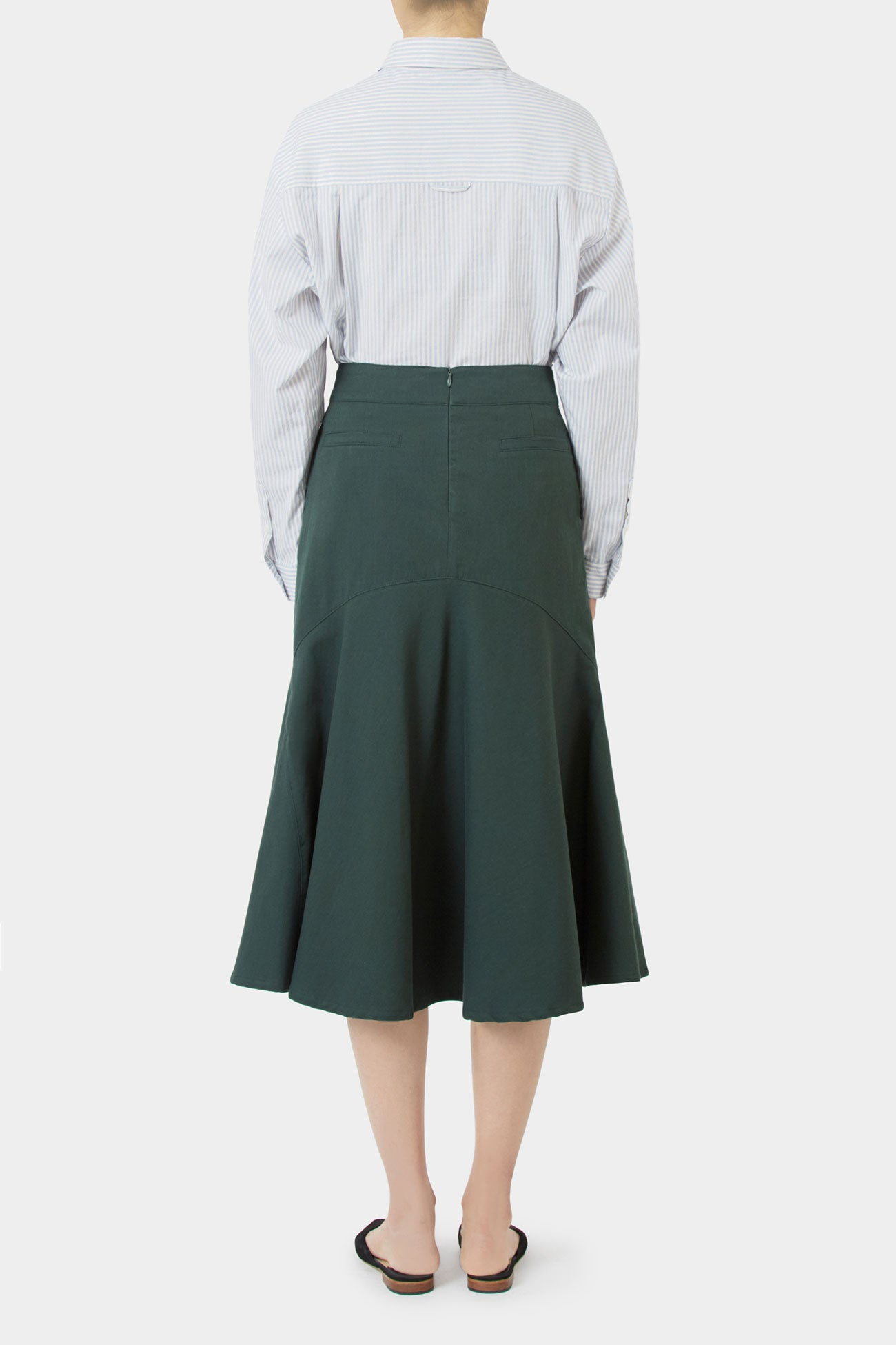 PINE TAY COTTON FLARE SKIRT