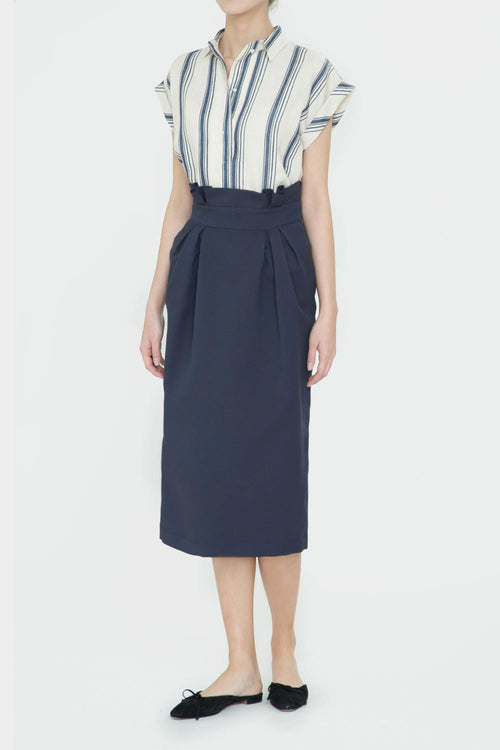 NAVY JIL TULIP SKIRT